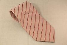 A Mahtani Pink Striped Mens Tie