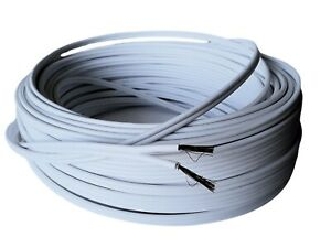 14 Gauge White Speaker Wire Home Marine Boat Car Audio Stereo Cable 100 Feet