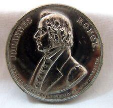 German Johannes Ronge white metal Medallion 1887 by A&M - UNC as struck