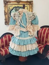 """Vintage French victorian  dress 15"""" for antique bisque German doll 23-26"""""""