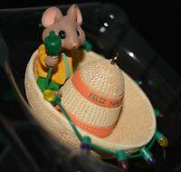 vtg 1997 Hallmark Keepsake Ornament Feliz Navidad Mouse in Sombrero