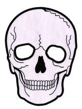 #46 Totenkopf Tattoo Biker Weiß XXL Backpatch Rückenaufnäher Aufnäher 16 x 21 cm