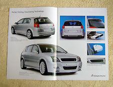 Vauxhall Signum IRMSCHER brochure, novembre 2003