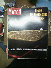 Paris Match n° 1027 11 jan 1969 lever de terre sur la lune salon nautique