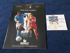 ENGLAND v TURKEY - European Championship, 16th Oct 1991,Programme,Ticket & Chart