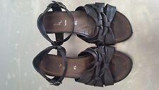 Gabor Leather Black Wedges Size 37.5 / UK 4.5