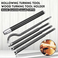 Hollowing Wood Turning Tool Holder Chisel Rotary Round/Diamond/Square/Curved
