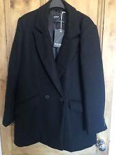 Pull and Bear short black coat jacket blazer size L, 12 14 BNWT BRAND NEW