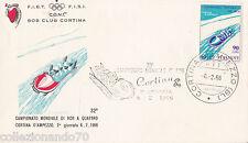 CAMPIONATO MONDIALE DI BOB A 4 CORTINA 1966-BUSTA CON ANNULLO SPECIALE