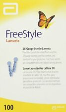 2 Pack Freestyle 28g Lancets by Abbott 100 Count Each