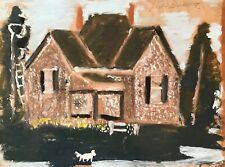 Jimmy Lee Sudduth Original House Folk Painting Outsider Art