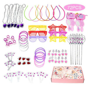 72 PCS Girl Hair Jewelry Accessories Dressing Play Princess Game gift for kids