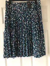 New Marks & Spencer Pleated  Print Skirt  Size 24 Long   bnwt  £29.50