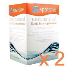 2 x New SPATONE LIQUID 100% NATURAL IRON SUPPLEMENT 28 Sachets Spa Tone