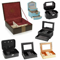 Jewellery Box Accessories Watch Ring Trinket Display Case Storage Organiser Gift