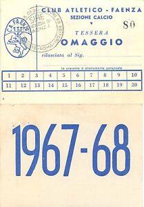 Tessera Club Atletico (sezione calcio) - Faenza (Ravenna), 1967/68