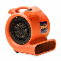 Soleaire Max Storm 1/2 HP Air Mover Carpet Dryer Floor Blower Fan, Orange
