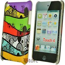 Cover Custodia Per iPod Touch 4 4G Colori Spirali + Pellicola Proteggi Schermo