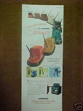 1947 Carter's Stylewriter Deck Set Pens Art Print Ad