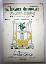 LA FINANZA MERIDIONALE #Rassegna Mensile - Anno II - N.1/2 # Gen./Feb. 1930-VIII