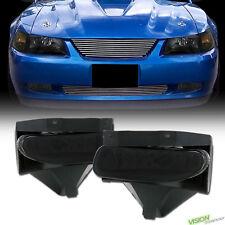 Euro Smoke Tint Lens Front Bumper Driving Fog Lights Lamps Pt 99-04 Mustang GT