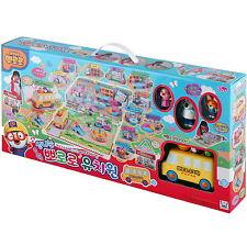 Pororo KINDERGARTEN Playground play set school bus 6 Figures Toy Korea Character