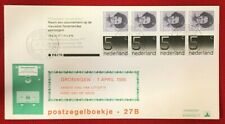 1985 Netherlands FDC # 621a - Queen Beatrix & Numerals Booklet Pane