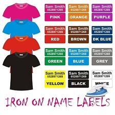 IRON ON Clothing Name Labels School Day Care Tag Aged Care Bag  42pcs 30x12mm