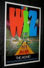 Original MICHAEL JACKSON Rare International Advance Style Movie Poster THE WIZ