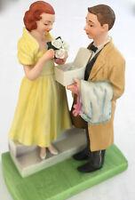 "Large Danbury Mint Norman Rockwell Figurine 1980 ""First Prom"" 7""x5""x3.5"" 1.5 Lbs"