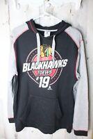 NHL Blackhawks #19 Toews Medium Men's Pullover Sweatshirt Hoodie