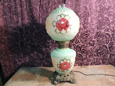 RED ROSE VICTORIAN GONE WITH THE WIND LAMP