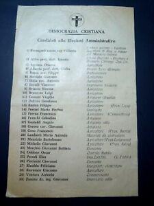 DOCUMENTO POLITICO - ELEZIONI POLITICHE DEMOCRAZIA CRISTIANA ALBENGA - 1960