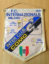 INTER FC GAGLIARDETTO GRANDE  INTER CLUB COMO ANNI 80 MISURE 33X44