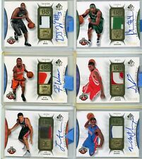 (11 card lot) 2008-09 SP Authentic patch auto RC 3 color Ewing Giddens White