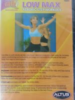 Fitness by Cathe Low Max Aerobic Step Workout DVD NEW Full Screen Version