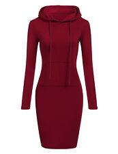 Women Ladies Casual Sweatshirt Long Sleeve Sweater Hoodie Jumper Mini Dress