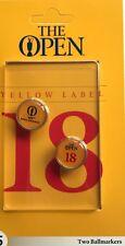 2017 British open ball marker set royal birkdale golf new yellow label