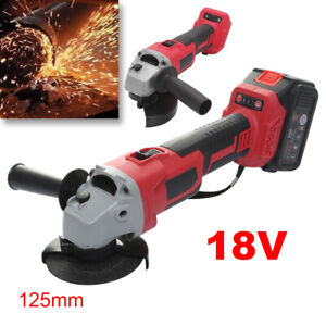 New Cordless Angle Grinder Naked-Body 125mm 18V Heavy Duty Cutting Grinding