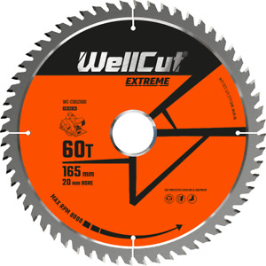 Circular Saw Blade Extreme 165mm x 60T x 20mm For DSS610, DCS611, DCS391