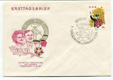1963 Ersttagsbrief Valentina Tereschkowa Juri Gagarin Berlin DDR SPACE NASA