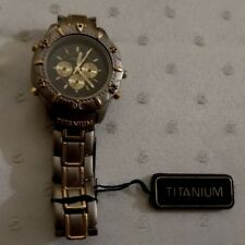 Universal Titanium Two Tone Watch Bracket Link Band New In Box