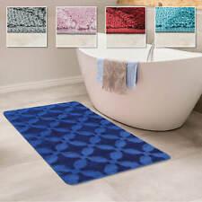 Tappeto per il bagno, a pelo corto, antiscivolo lavabile con motivo ornamentale