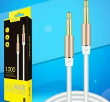 FREE POSTAGE 3.5mm aux cable. Gold colour tip. Male to male.Headphone.Stereo.Car