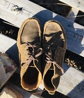 Ariat Holbrook Weathered Work Boot Moccasin Boat Shoe Brown Suede Size 11 EE