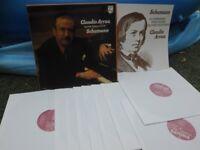 SCHUMANN: Piano works > Claudio Arrau / Philips Holland stereo Box 9 LPs NM