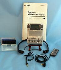 Sony Mz-B100 Minidisc Business Recorder Player + Extras - Works Great!