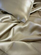 4 pcs Luxurious 100 silk charmeuse sheet sets Taupe Queen by Feeling Pampered