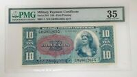 Series 591 $10 Military Payment Certificate FIRST PRINTING PMG Choice VF 35
