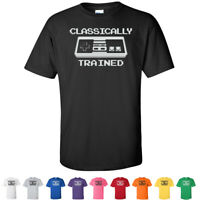 Classically Trained Nintendo Funny Vintage Tees Mens Retro Gamer T Shirts
